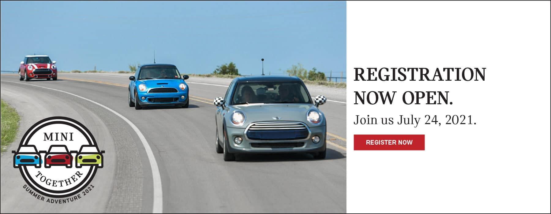 JOIN US ON JULY 24TH FOR THE MINI TOGETHER EVENT. CLICK TO REGISTER NOW