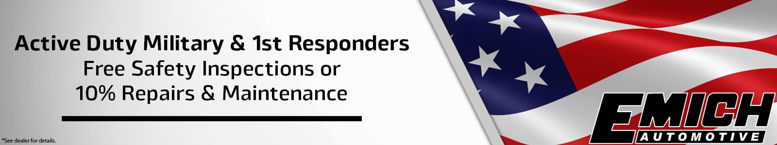 Military and 1st Responder Service Specials