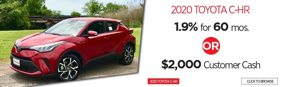 New 2020 Toyota CH-R