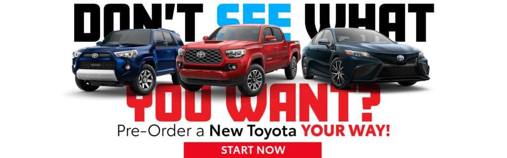 Pre-Order a New Toyota in Paris, TX