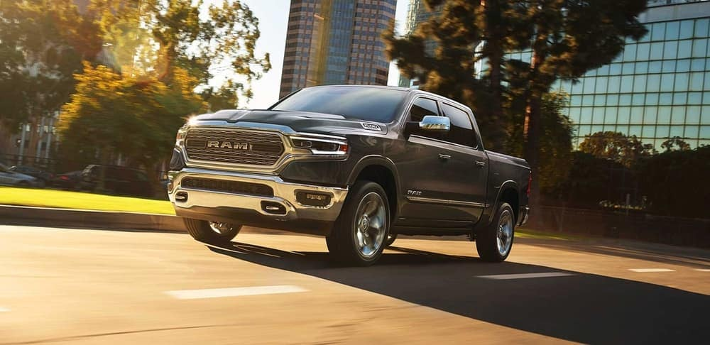 2019 Ram 1500 driving down the road