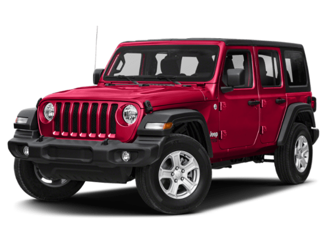 2019 Jeep Wrangler Sahara in red