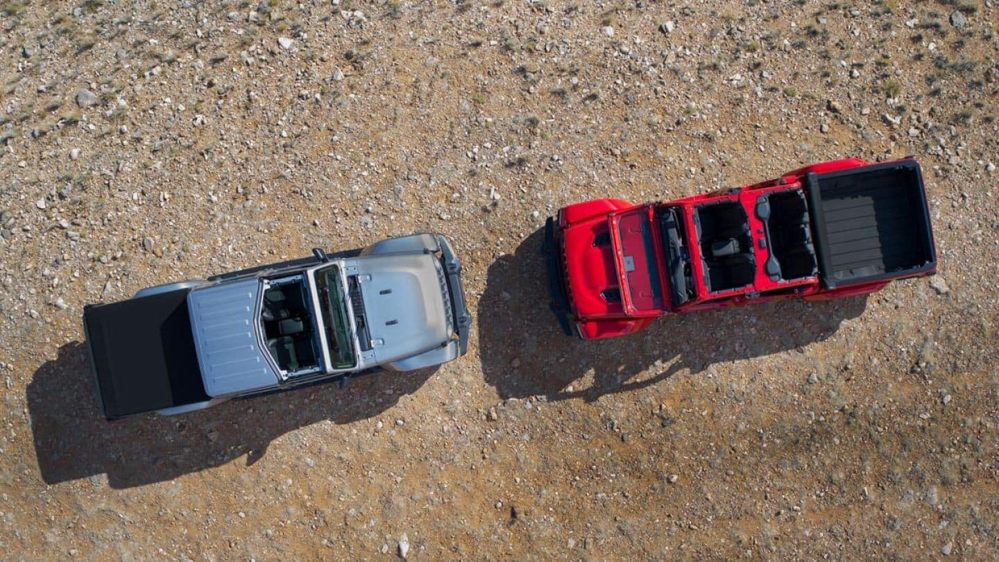 2020 Jeep Gladiator aerial shot