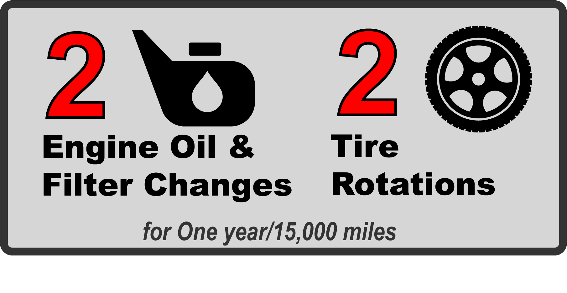 2 oil changes 2 tire rotations