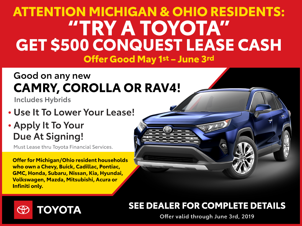 Try a Toyota Conquest OFFER
