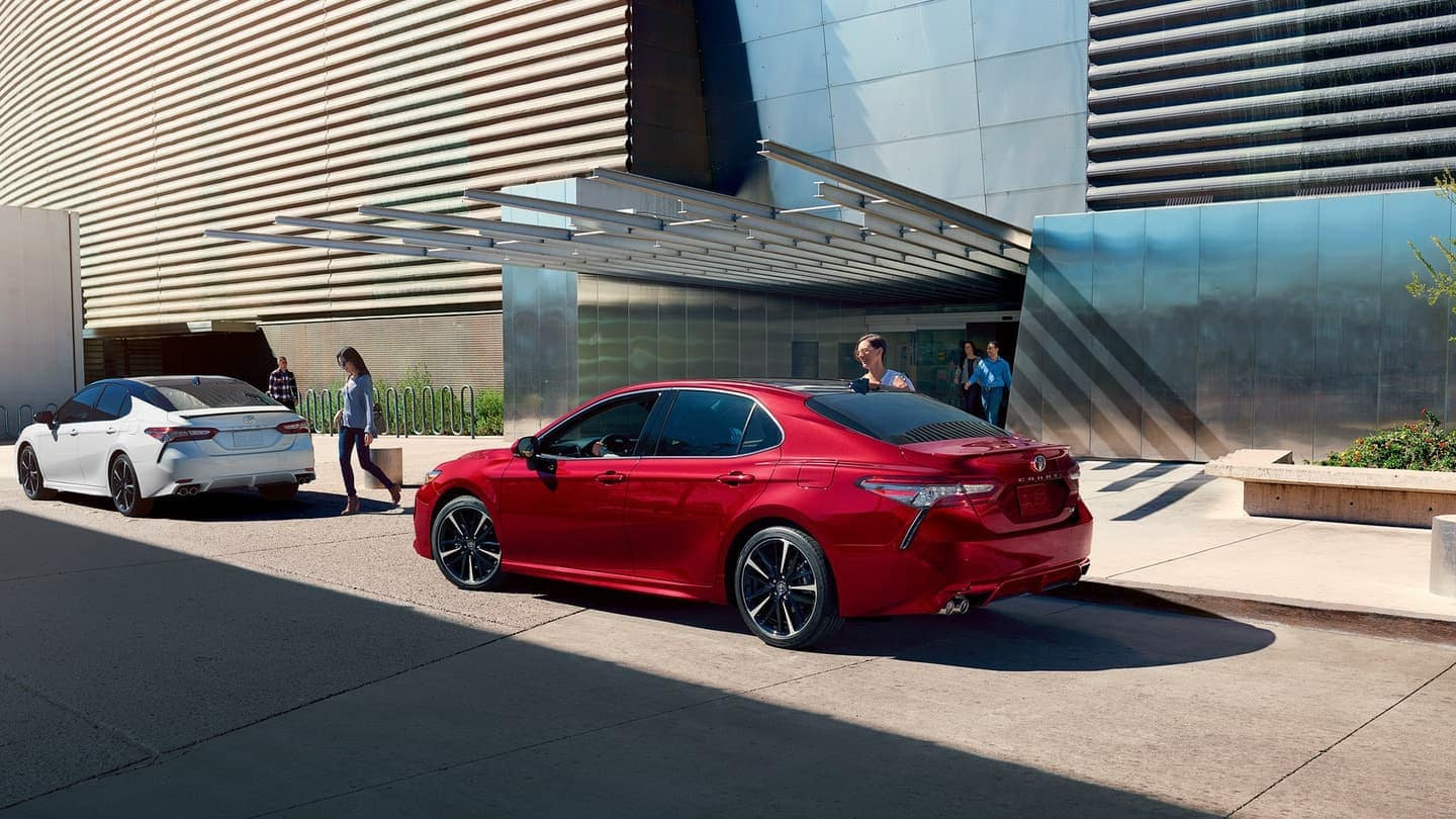 2019 Toyota Camry exterior in red