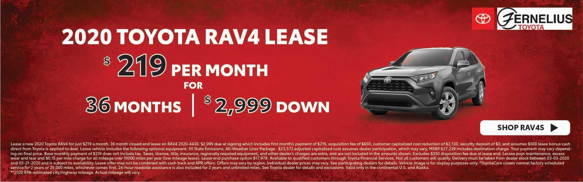 2020 RAV4 Lease