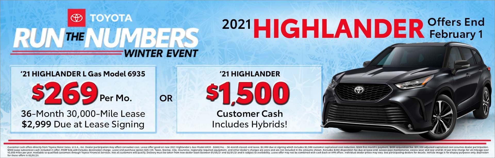 toyota highlander offers 2021