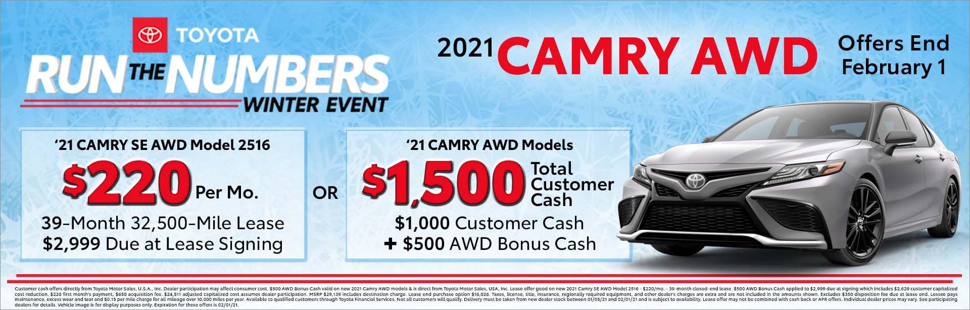 camry 2021 awd offers