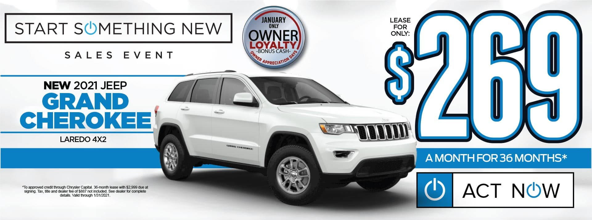 NEW 2021 JEEP GRAND CHEROKEE LAREDO LEASE FOR $269/MO* SHOP NOW