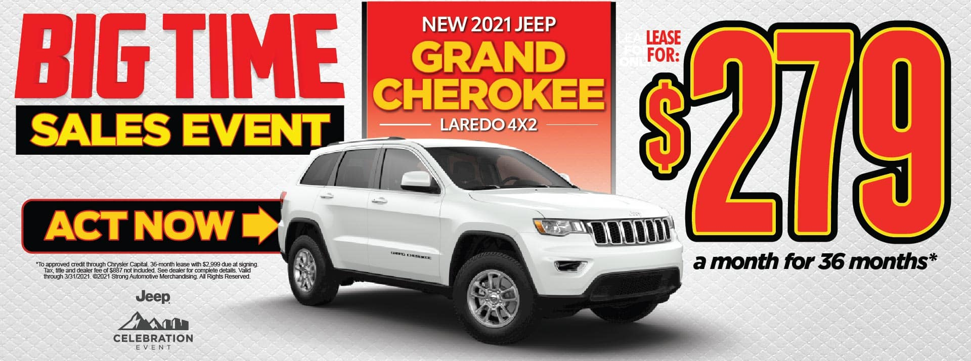 NEW 2021 JEEP GRAND CHEROKEE LEASE FOR $279/MO* ACT NOW