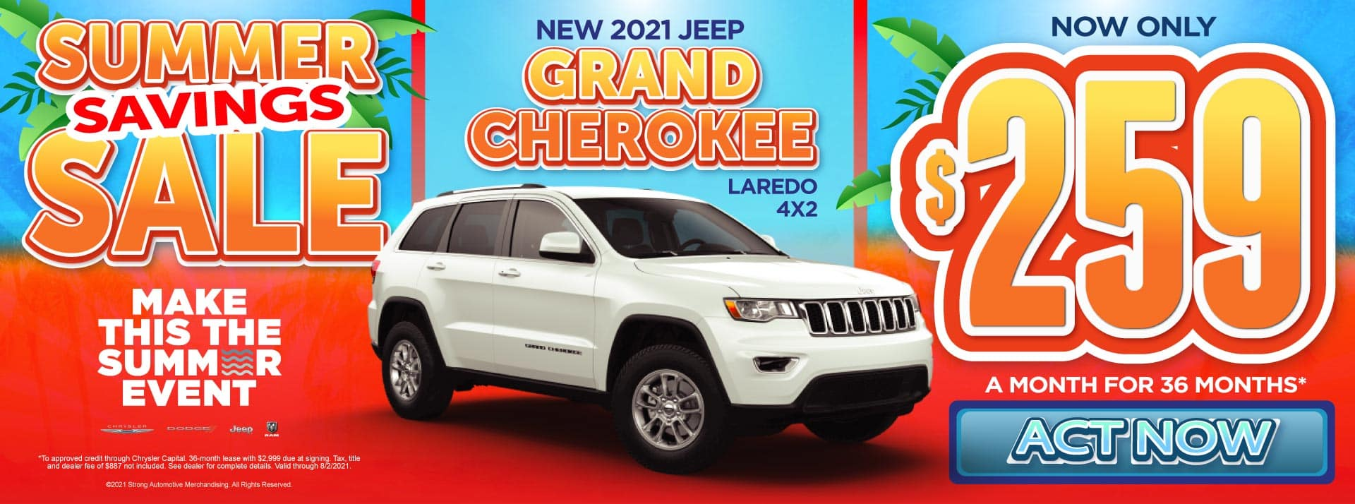 New 2021 Jeep Grand Cherokee - Now only $259 a month for 36 months - Act Now