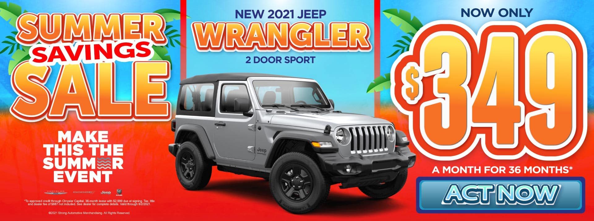 New 2021 Jeep Wrangler - Now only $349 a month for 36 months - Act Now