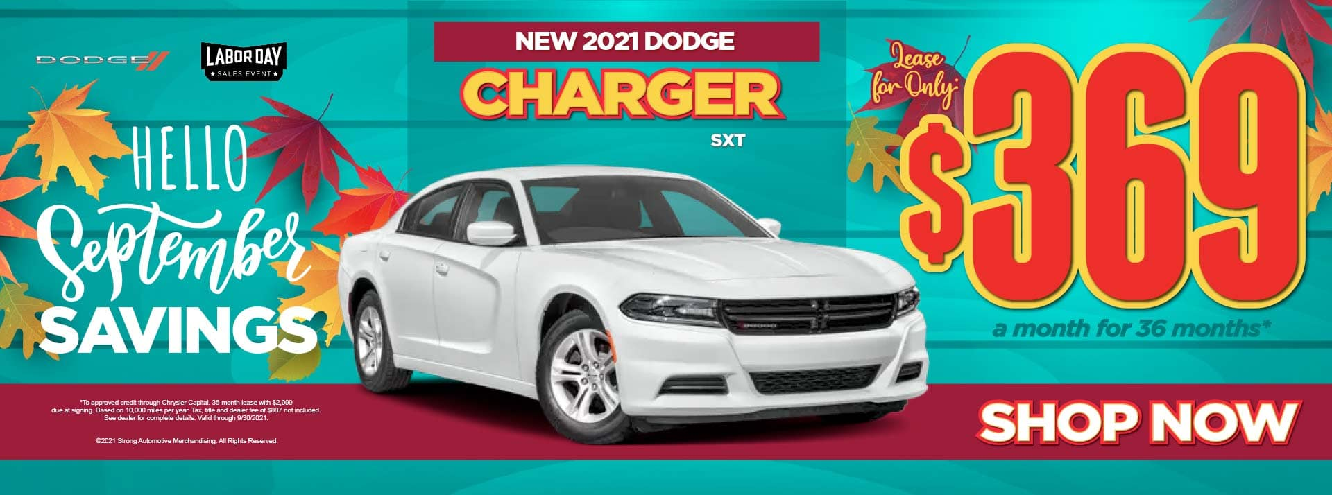 New 2021 Dodge Charger SXT - $369 / mo ACT NOW