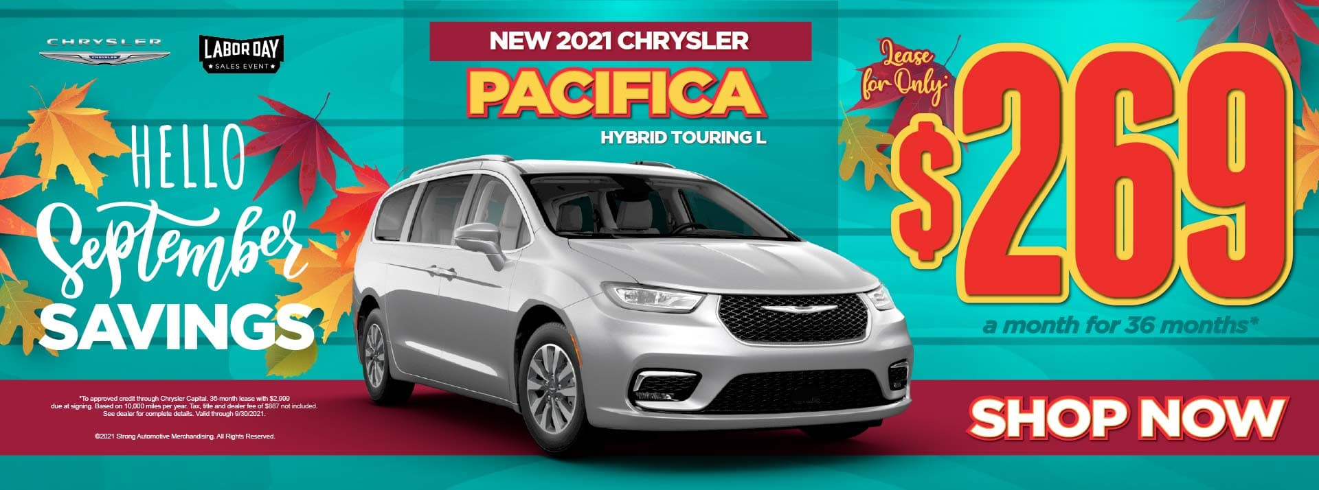 New 2021 Chrysler Pacifica Hybrid Touring L - $269 / mo ACT NOW