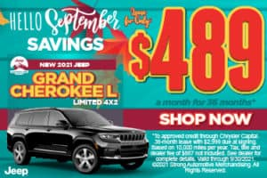 New 2021 Jeep Grand Cherokee L Limited 4x2 - $489 / mo ACT NOW