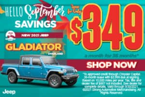 New 2021 Jeep Gladiator Overland - $349 / mo ACT NOW