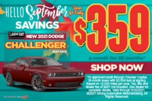 New 2021 Dodge Challenger Scat Pack - $359 / mo ACT NOW