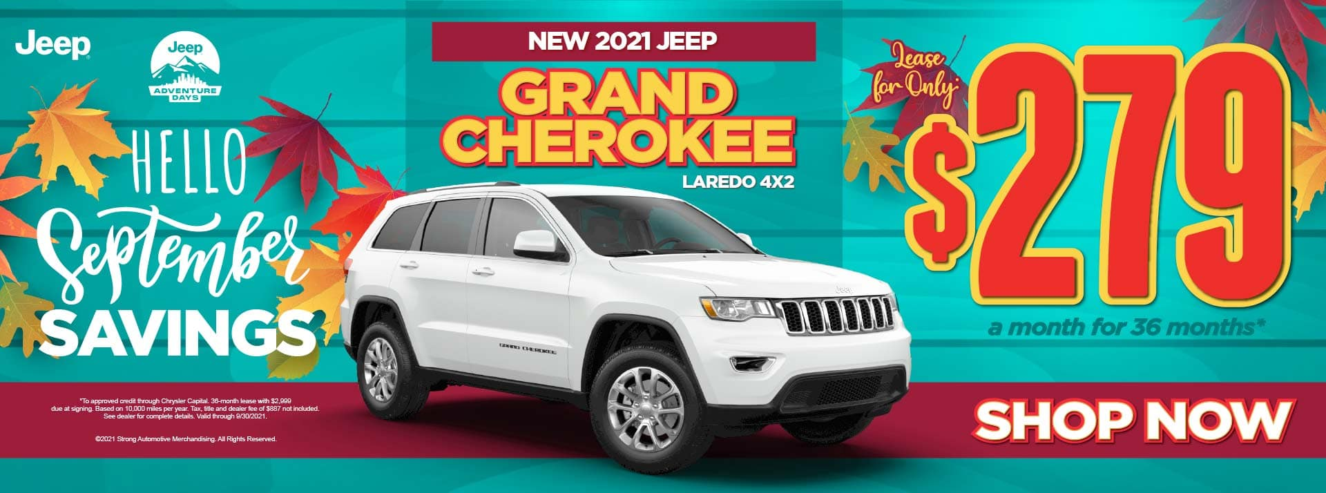 New 2021 Jeep Grand Cherokee Laredo 4x2 - $279 / mo ACT NOW