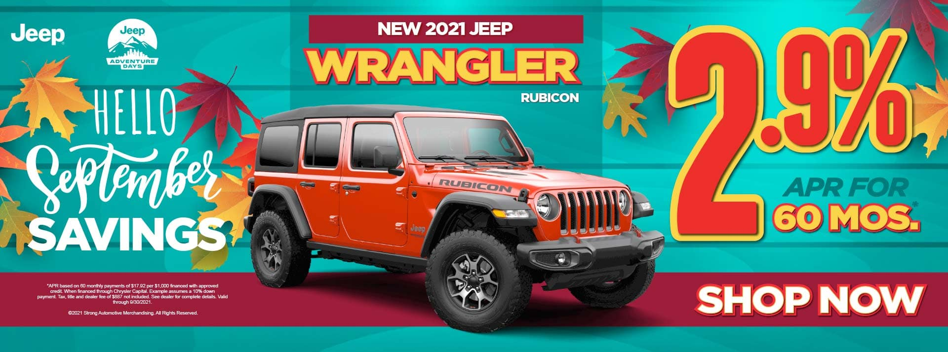 New 2021 Jeep Wrangler Rubicon – 2.9% for 60 months ACT NOW