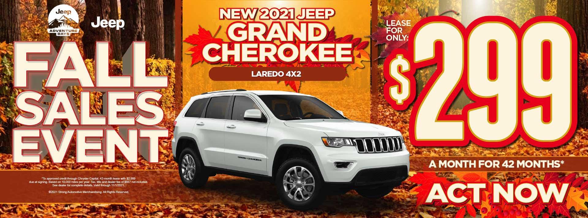 New 2021 Jeep Grand Cherokee Laredo 4x2 - $299 / mo ACT NOW