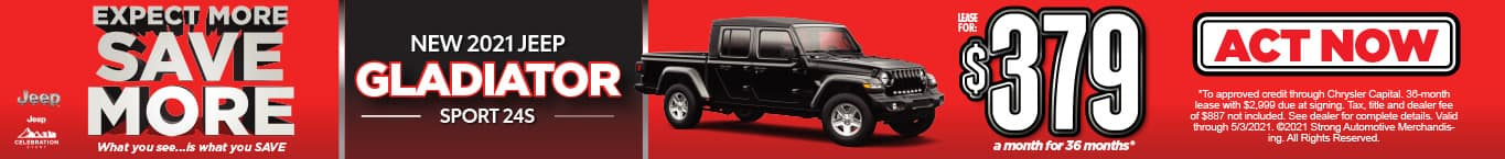 NEW 2021 JEEP GLADIATOR LEASE FOR $379/MO* ACT NOW