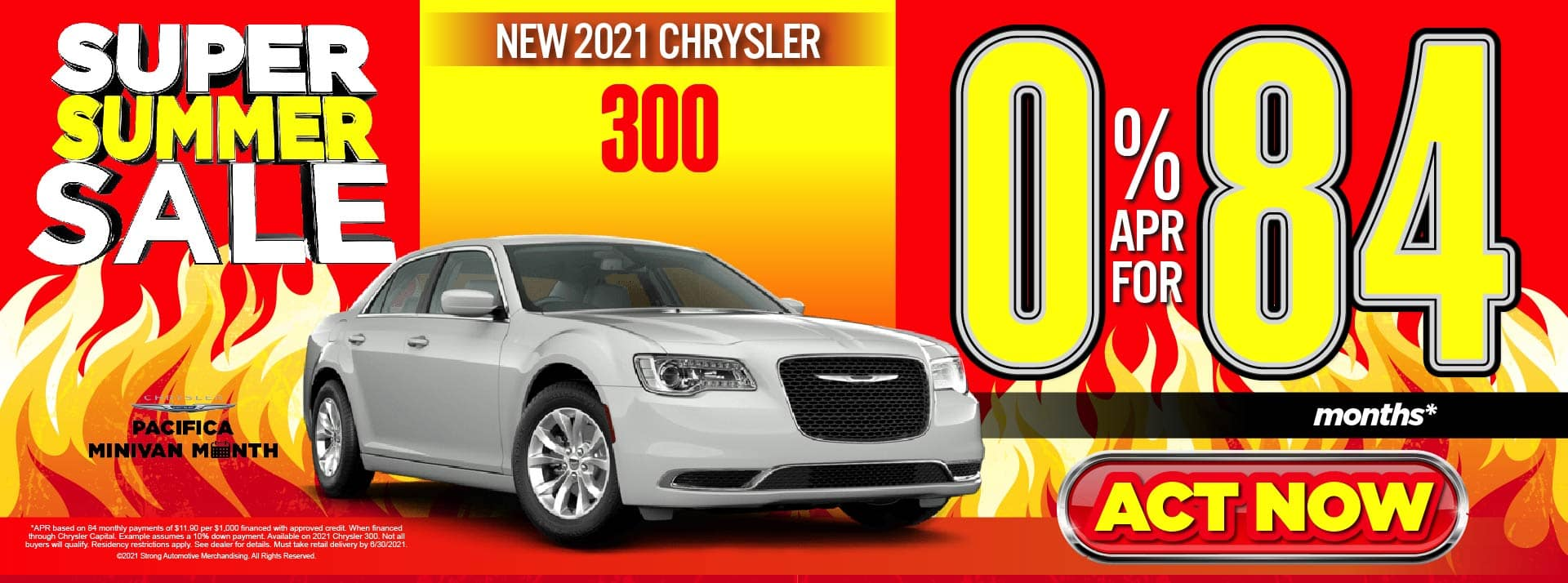 NEW 2021 CHRYSLER 300 0% APR FOR 84 MOS* ACT NOW