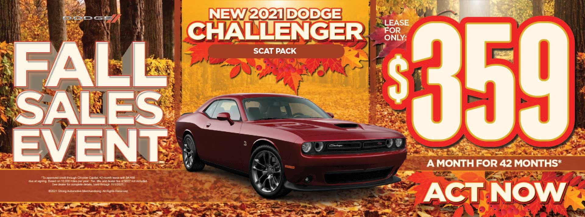 New 2021 Dodge Challenger Scat Pack - $359 / mo - ACT NOW