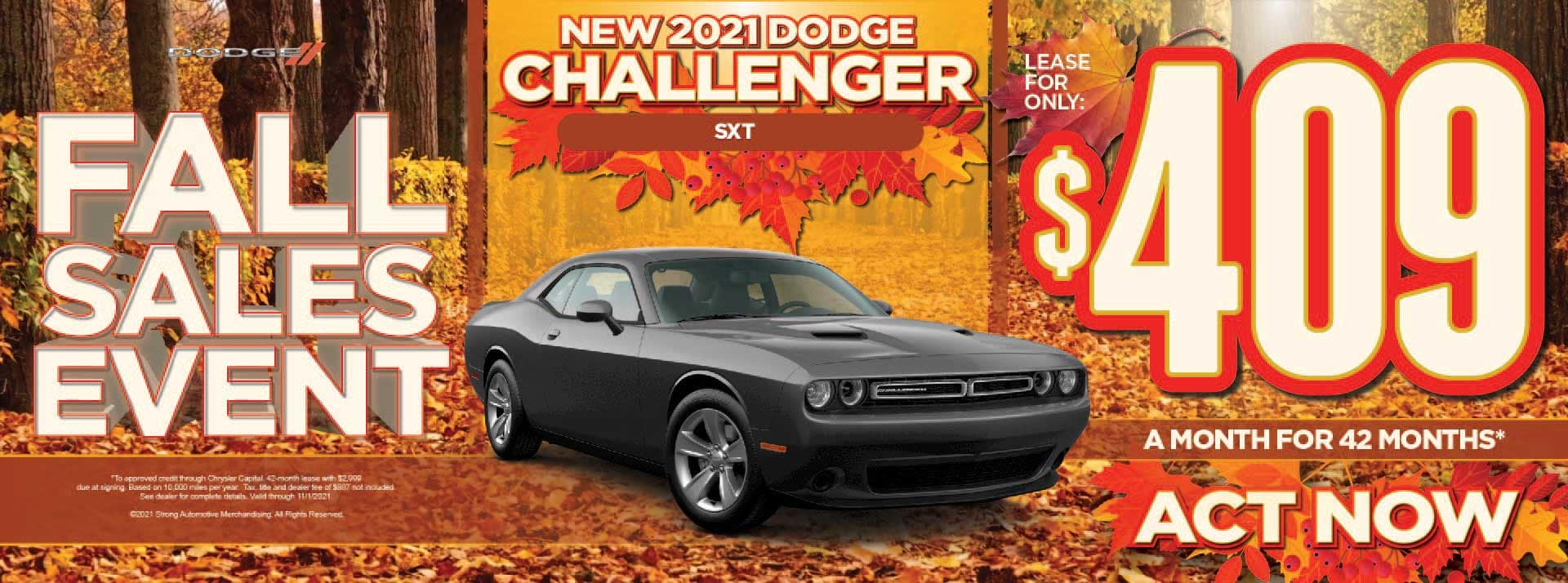 New 2021 Dodge Challenger SXT - $409 / mo ACT NOW