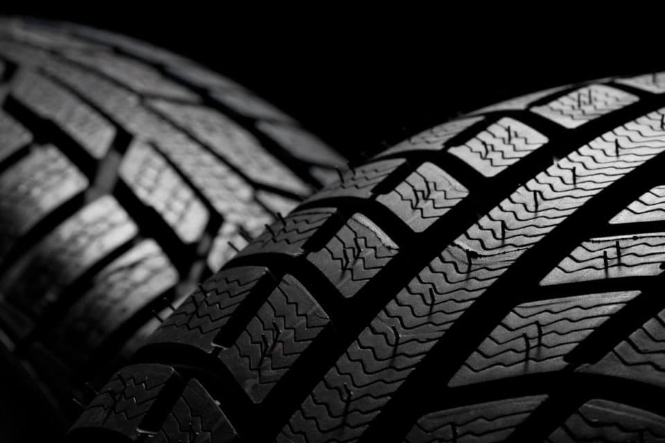 Close up of the winter tires