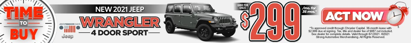 Wrangler - Time To Buy- Lease $299 for 36 Months