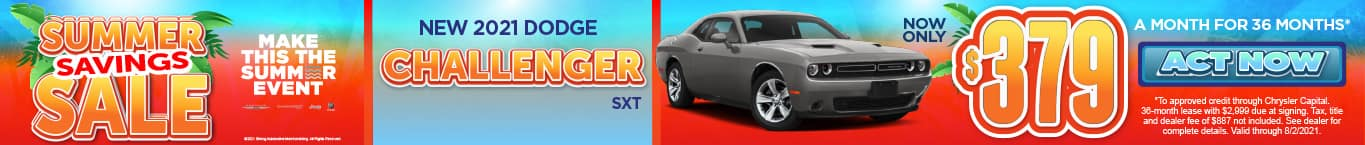 New 2021 Dodge Challenger - Now only $379 a month for 36 months - Act Now