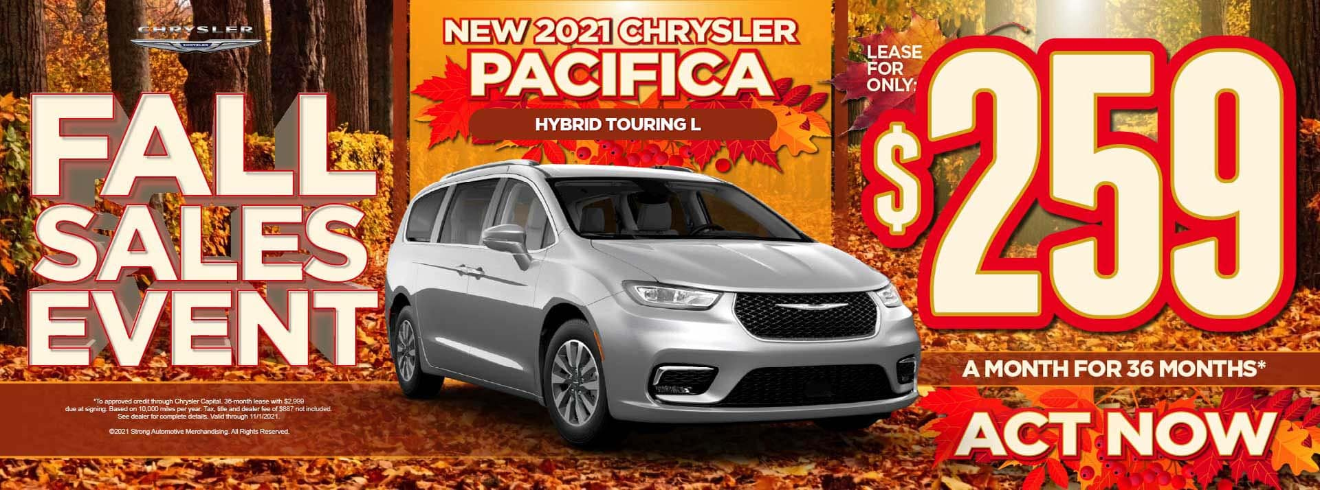 New 2021 Chrysler Pacifica Hybrid Touring L - $259 / mo - ACT NOW