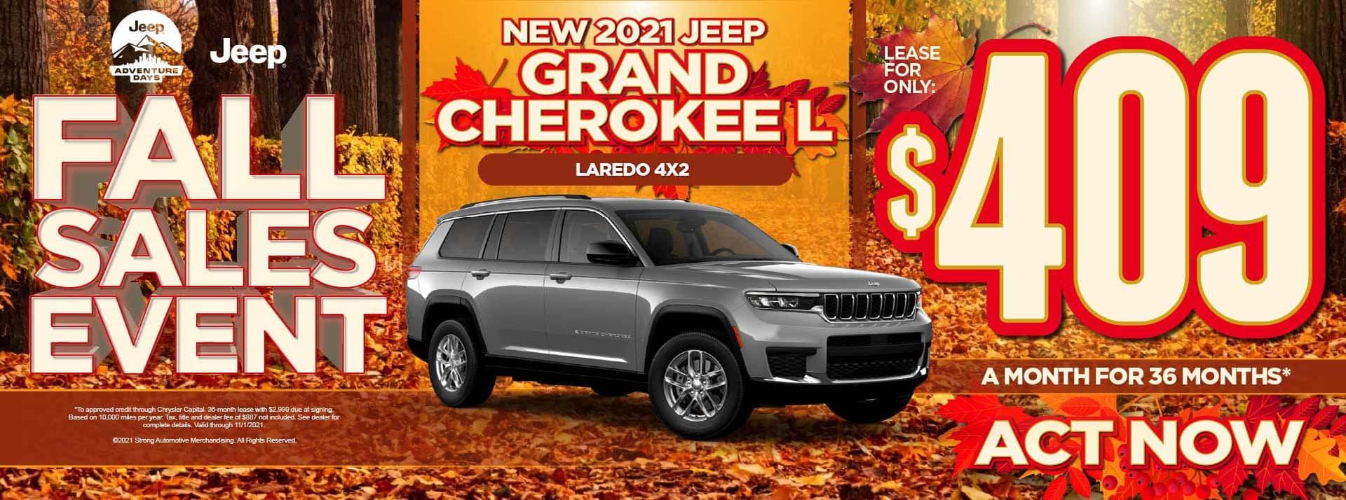 New 2021 Jeep Grand Cherokee L Loredo 4x2 - $409 / mo ACT NOW