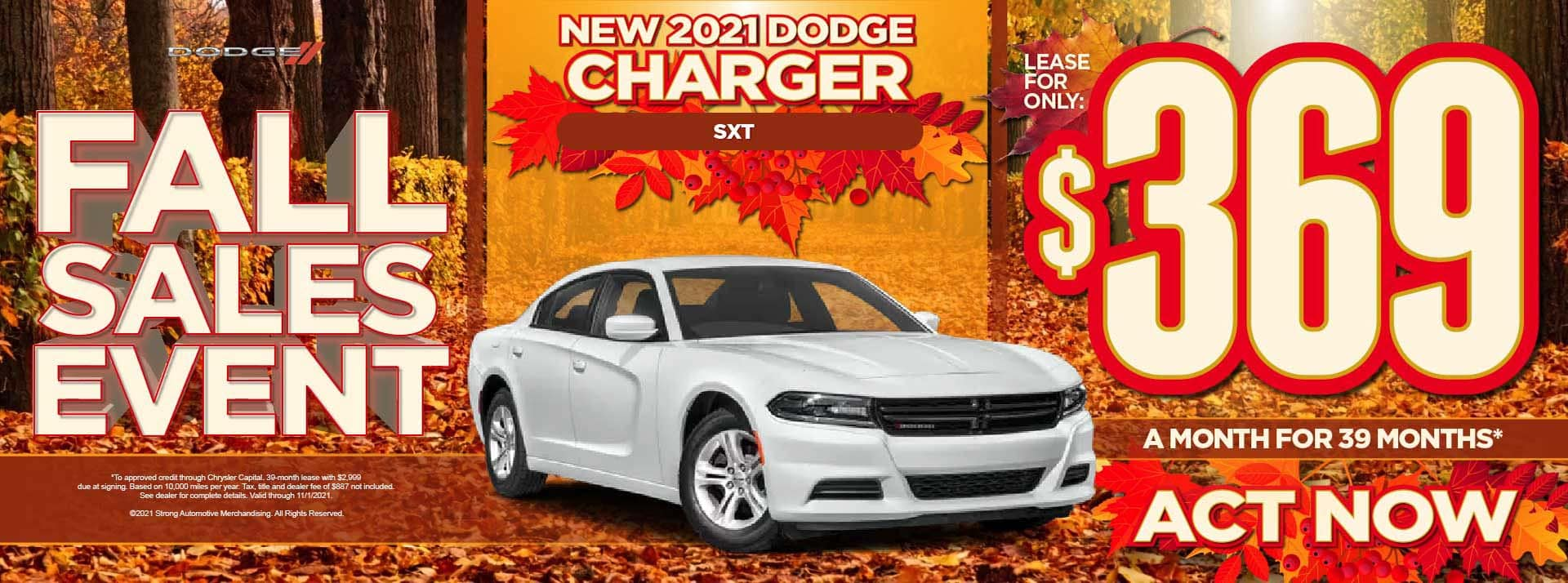 New 2021 Dodge Charger SXT - $369 / mo - ACT NOW