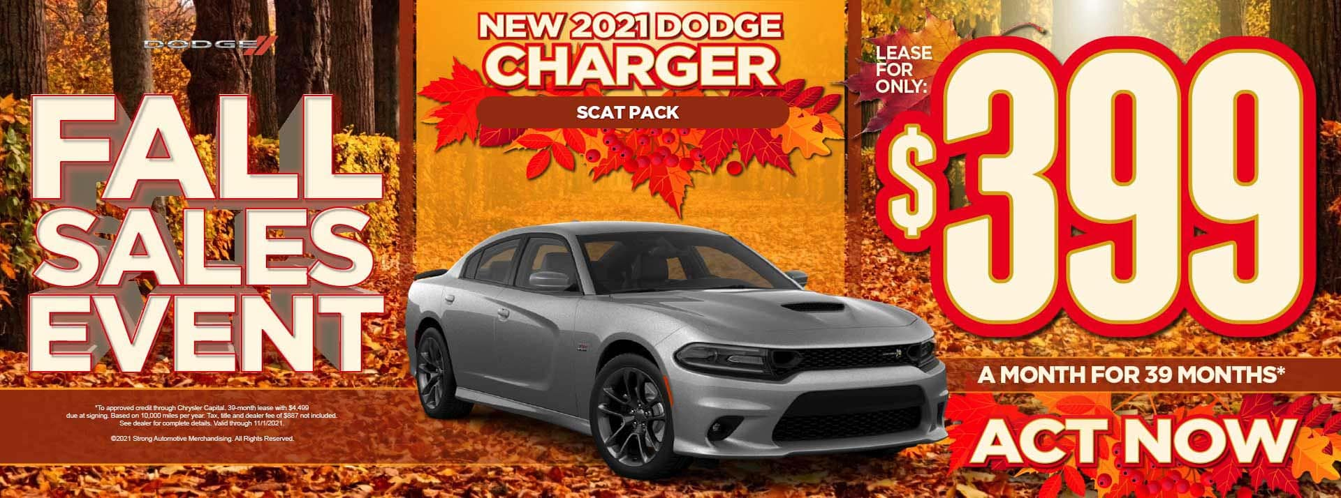New 2021 Dodge Charger Scat Pack - $399 / mo - ACT NOW