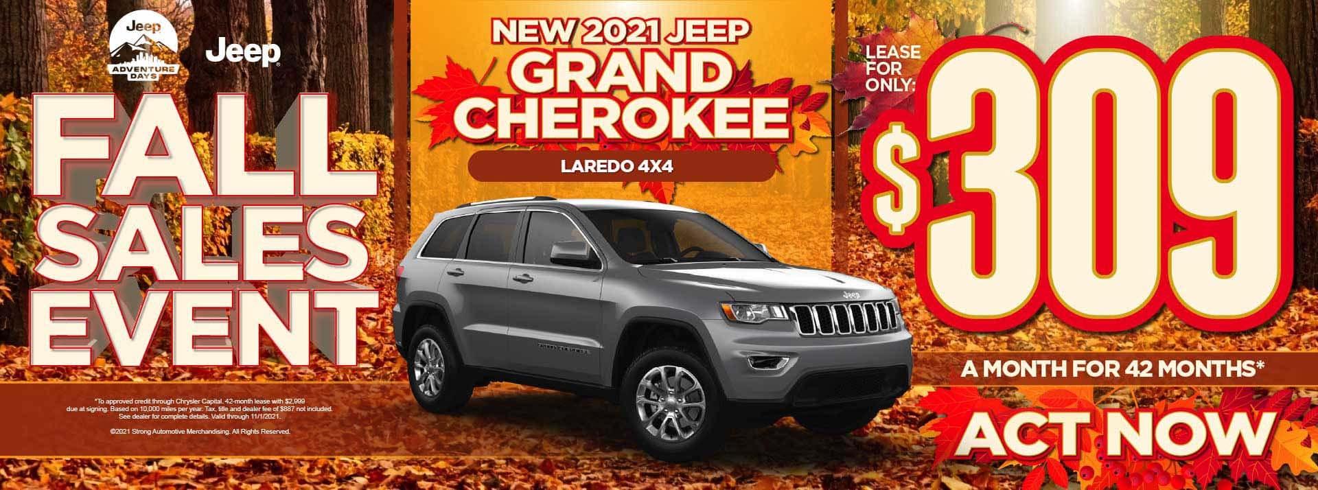 New 2021 Jeep Grand Cherokee Laredo 4x4 - $309 / mo ACT NOW