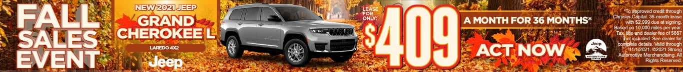 New 2021 Jeep Grand Cherokee L Laredo 4x2 - Lease for $409 a month - Act Now