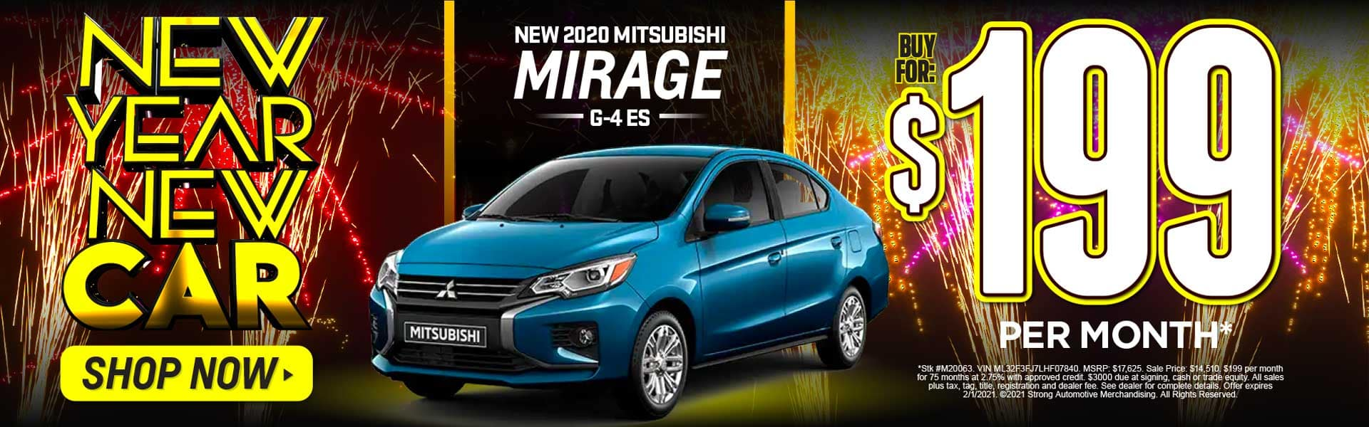 2020 MITSUBISHI MIRAGE G-4 ES $199 A MONTH* ACT NOW