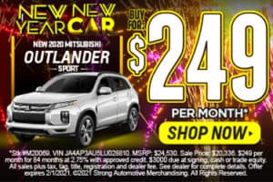 2020 MITSUBISHI OUTLANDER SPORT $250 A MONTH* ACT NOW