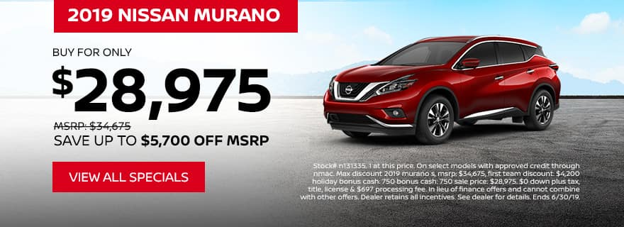 2019 Murano offer only $28,975