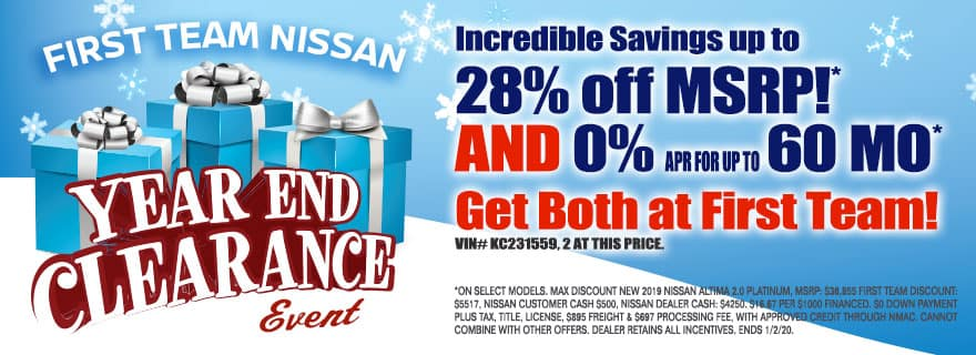 Nissan year end sale