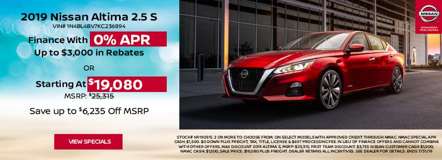finance altima with 0% apr financing