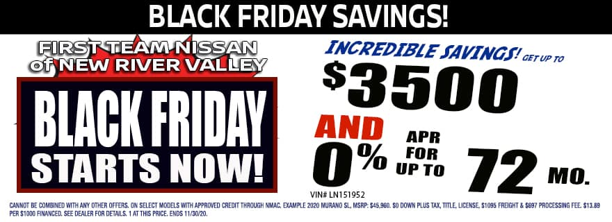 First Team Nissan Of New River Valley Nissan In Christiansburg Va