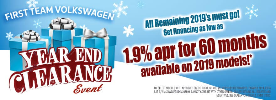 VW year end clearance sale