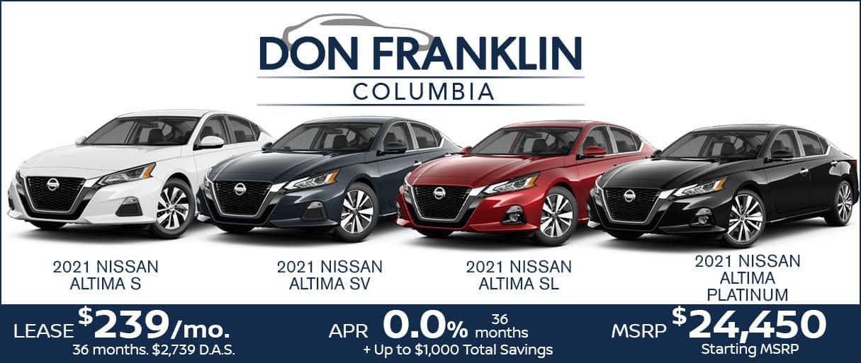 Nissan Altima July Sale: Lease $239/month for 36 months