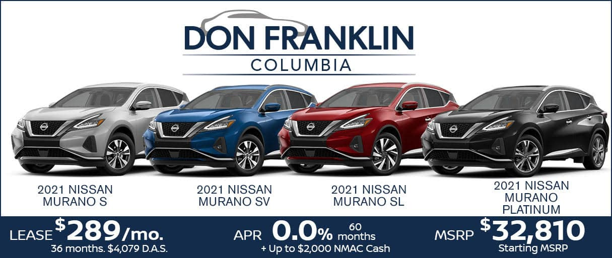 July Murano Lease Sale $289 a month for 36 months