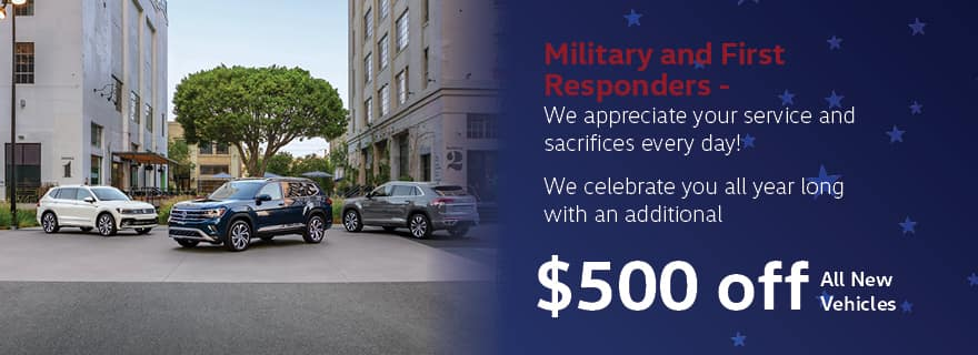 $500 Off for Military & First Responders