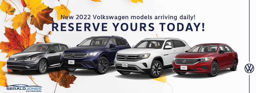 Reserve Your 2022 Volkswagen Model