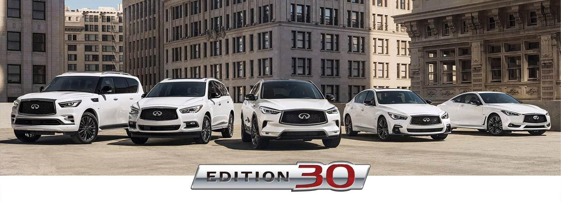 INFINITI EDITION 30 Model Lineup & Package Overview